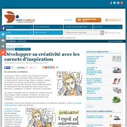 Développer sa créativité avec les carnets d'inspiration