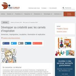 Développer sa créativité avec les carnets d'inspiration - Thot Cursus