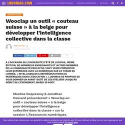 Wooclap un outil « couteau suisse » à la belge pour développer l'intelligence collective dans la classe