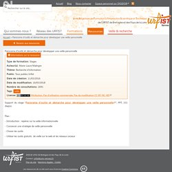 Panorama d'outils et démarche pour développer une veille personnelle