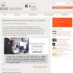 Développer des pratiques critiques sur Internet