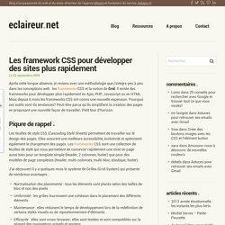 Les framework CSS pour développer des sites plus rapidement