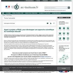 Appel à projets e-FRAN, pour développer une approche scientifique du numérique éducatif