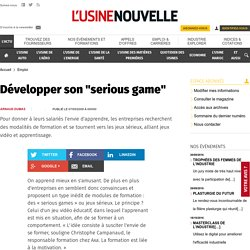"Développer son ""serious game"""