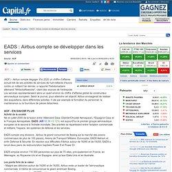 EADS : Airbus compte se développer dans les services
