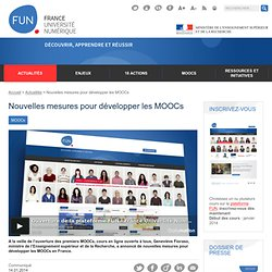 Nouvelles mesures pour développer les MOOCs