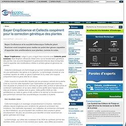 Cellectis et Bayer développeront des semences améliorées grâce à la technique mise au point par Cellectis