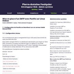 Mise en place d'un SMTP avec Postfix sur Linux Debian - Pierre-Antoine Foulquier