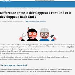Différence entre le développeur Front-End et le développeur Back-End ? - alticreation