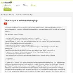 Développeur e-commerce php - Offre d'emploi CDI (DIS digital) - Alsacreations