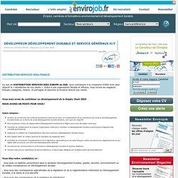 Développeur développement durable et service généraux H/F - Envirojob.fr