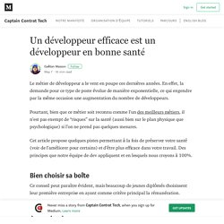 Un développeur efficace est un développeur en bonne santé