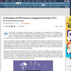 Un développeur de PHP propose un langage fortement typé, le P++, avec des fonctionnalités plus avancées