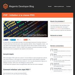 Développeur Magento Certifié Freelance Nicolas Verhoye (Lille, Nord) – PHP : Initiation à la classe PDO