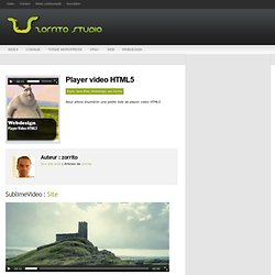 Player video HTML5 | Zorrito studio : Developpeur web 2.0, wordpress, webdesign, xhtml / css