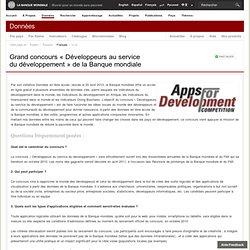 Grand concours « Développeurs au service du développement » de la Banque mondiale