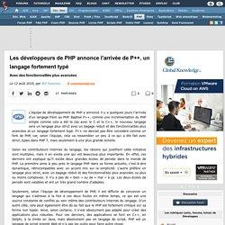 Les développeurs de PHP annonce l'arrivée de P++, un langage fortement typé avec des fonctionnalités plus avancées