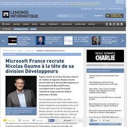 Microsoft France recrute Nicolas Gaume à la tête de sa division Développeurs