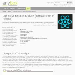 Une brève histoire du DOM (jusqu'à React et Redux) — Développeurs de logiciels métiers, spécialistes Python / Javascript - Paris
