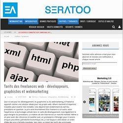 Tarifs des freelances web : développeurs, graphistes et webmarketing