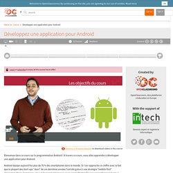 OpenClassrooms - Développez une application pour Android