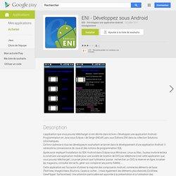 ENI - Développez sous Android