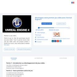 Développez votre premier jeu vidéo avec l'Unreal Engine 4 - My Mooc