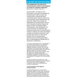 Développpement durable de la communication interne d'entreprise à l'aube du troisième millénaire