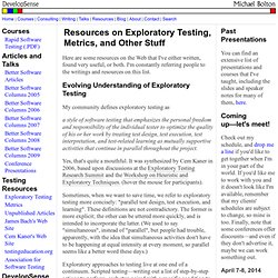 Resources and Unpublished Articles