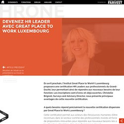 Devenez HR Leader avec Great Place to Work Luxembourg