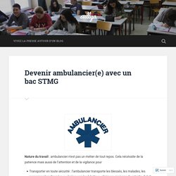 Devenir ambulancier(e) avec un bac STMG – sullya