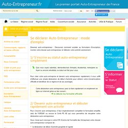 Inscription auto-entrepreneur