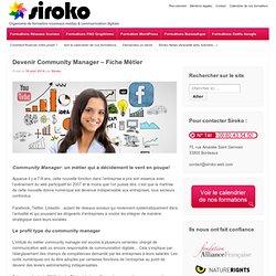 Devenir Community Manager - Fiche Métier