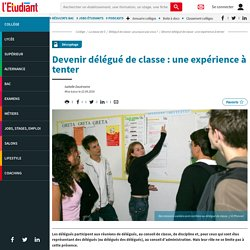 Devenir délégué de classe : une expérience à tenter