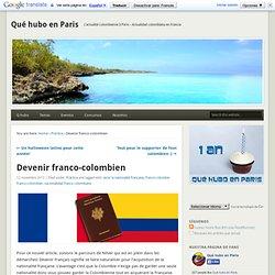 Devenir franco-colombien