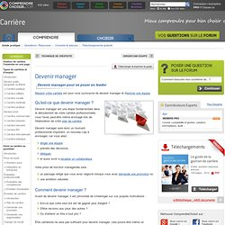 Devenir manager : comment devenir un bon manager ?