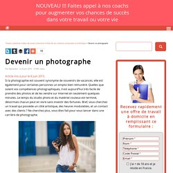 □ Devenir un photographe - Travail a domicile