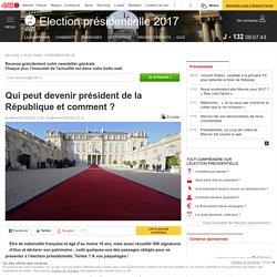 Qui peut devenir président de la République et comment ?