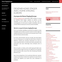 home staging europe home staging europe pearltrees. Black Bedroom Furniture Sets. Home Design Ideas