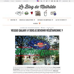 Veggie Galaxy // Dois-je devenir végétarienne ? | The true blog of Mathilde
