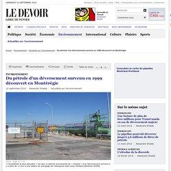 Du pétrole d'un déversement survenu en 1999 découvert en Montérégie