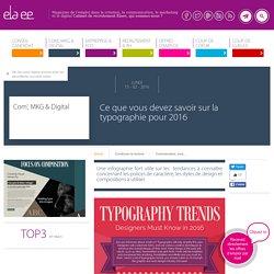 Ce que vous devez savoir sur la typographie pour 2016