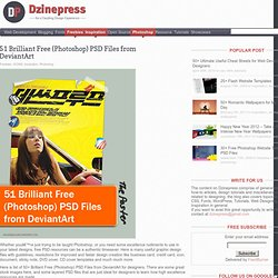 51 Brilliant Free (Photoshop) PSD Files from DeviantArt