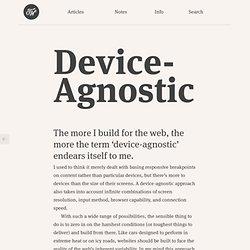 Device-Agnostic