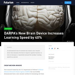 DARPA's New Brain Device Increases Learning Speed by 40%