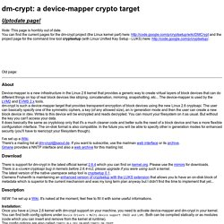 dm-crypt - a device-mapper crypto target
