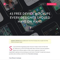 43 free device mockups every designer should have on hand