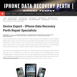 iPhone Data Recovery Perth Repair Specialists
