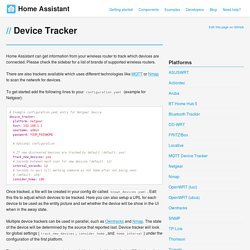 Device Tracker - Home Assistant