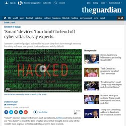 'Smart' devices 'too dumb' to fend off cyber-attacks, say experts